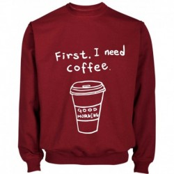 SUDADERA FIRST COFFEE
